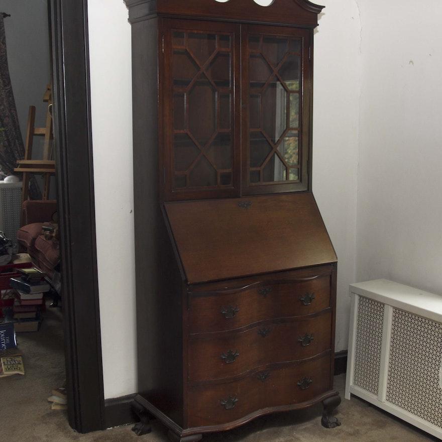 Maddox Tables Antique Walnut Secretary ... - Maddox Tables Antique Walnut Secretary : EBTH