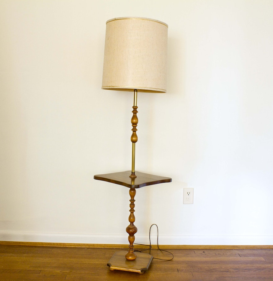 Floor lamp with tray table - Vintage Floor Lamp With Tray Table
