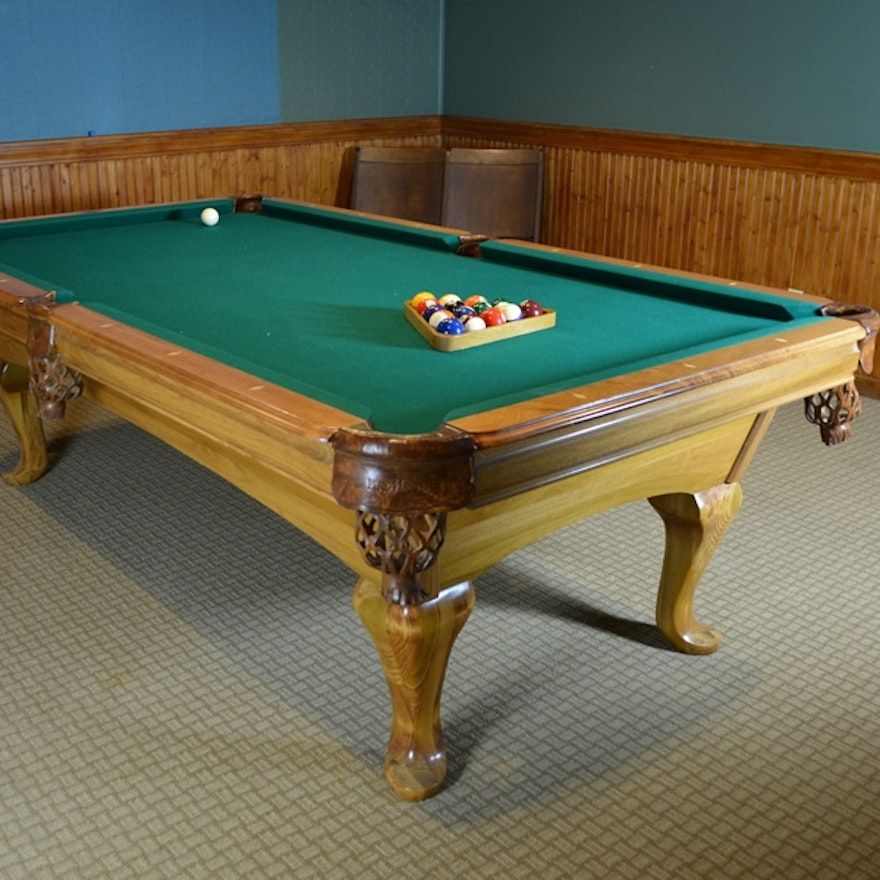 AMF PlayMaster Fairfax Billiard Table And Cue Sticks EBTH - Playmaster pool table