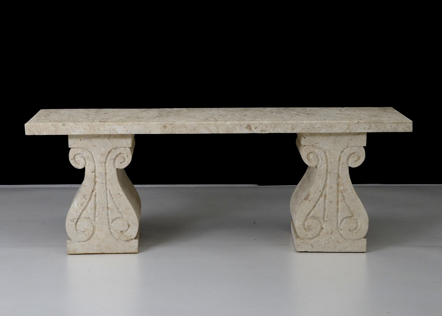 White Stone Hall Table