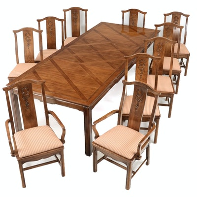 Thomasville Dining Table And Ten Chairs
