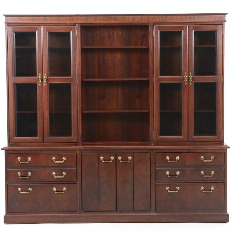 Kimball Mahogany Office Cabinet Unit