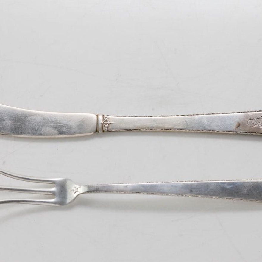 """Sterling Silver Towle """"Old Lace""""  Butter Knife and Fork"""