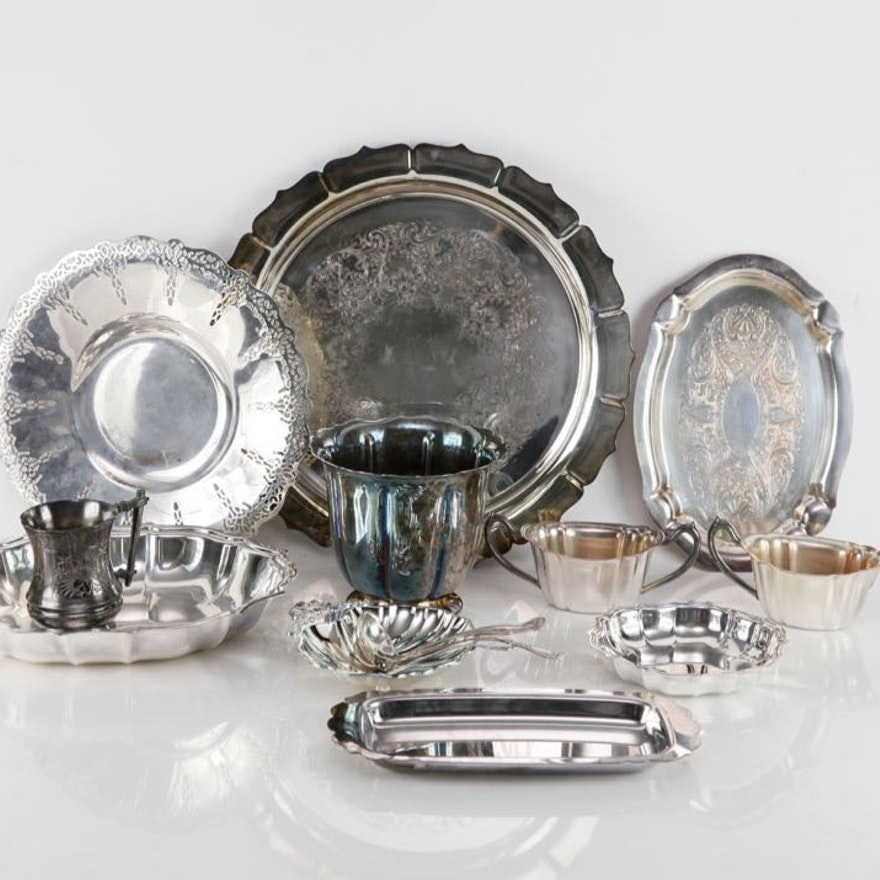Selection of Silver Plate Serving Ware