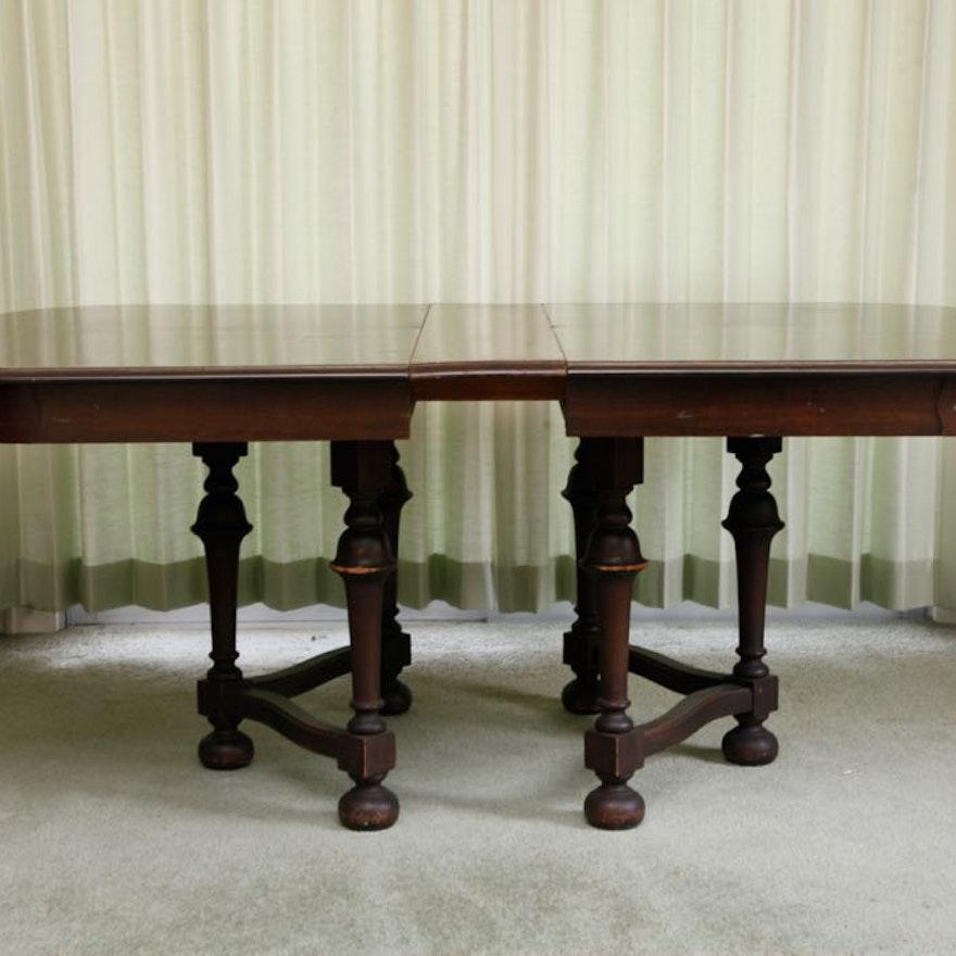 Jacobean Revival Mahogany Dining Table