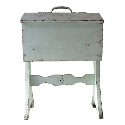 Vintage Sewing Box - Online Furniture Auctions Vintage Furniture Auction Antique