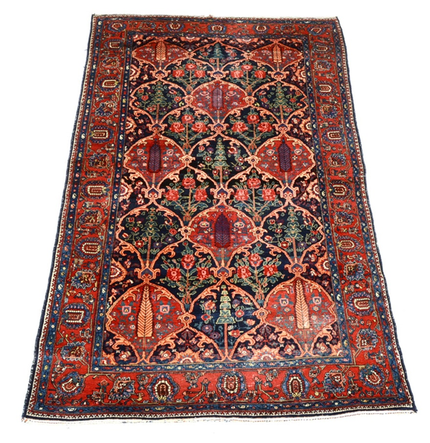 Large Semi-Antique Soumak Style Area Rug : EBTH