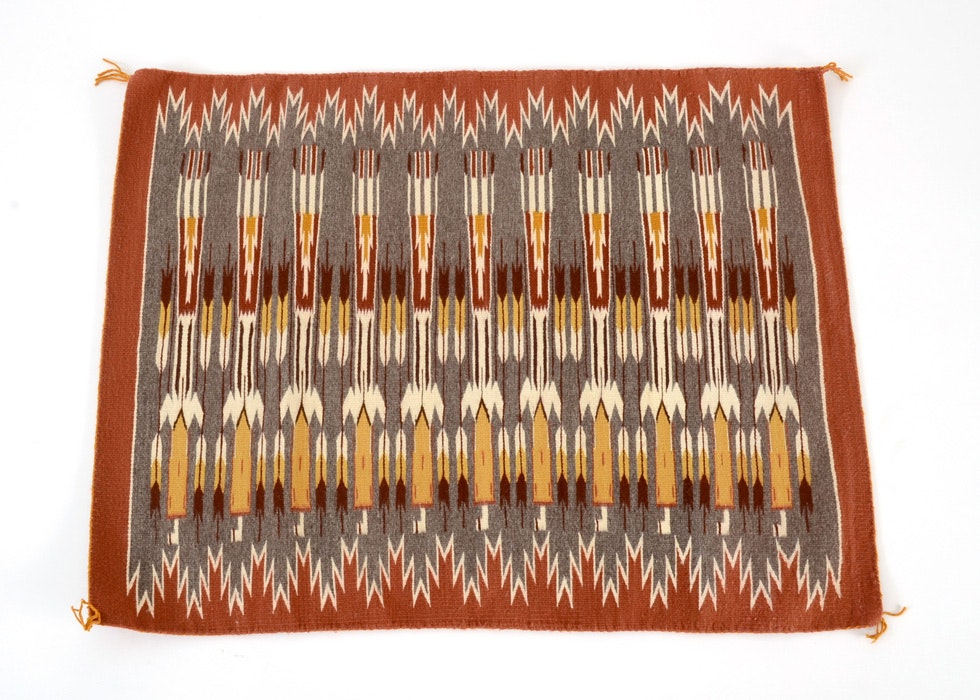 Native American Dhurrie Woven Rug Ebth