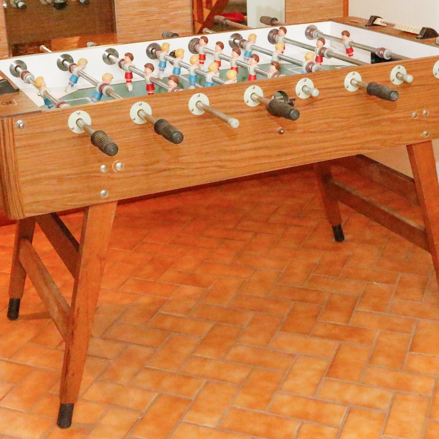 Vintage Foosball Table By Munro Games EBTH - Antique foosball table for sale