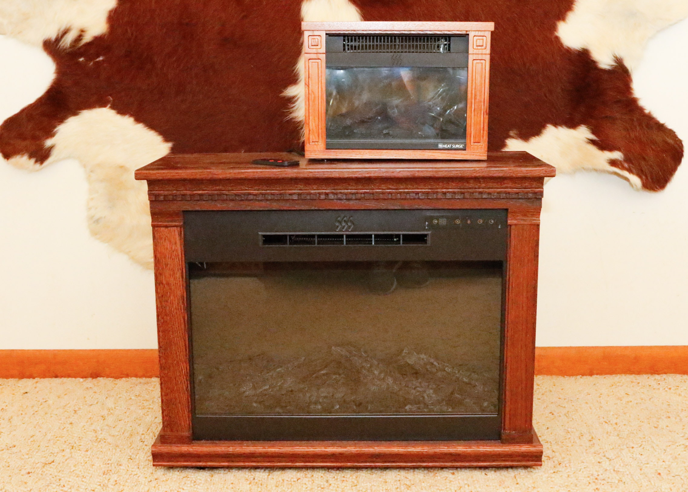 Two Heat Surge Electric Fireplace Units : EBTH