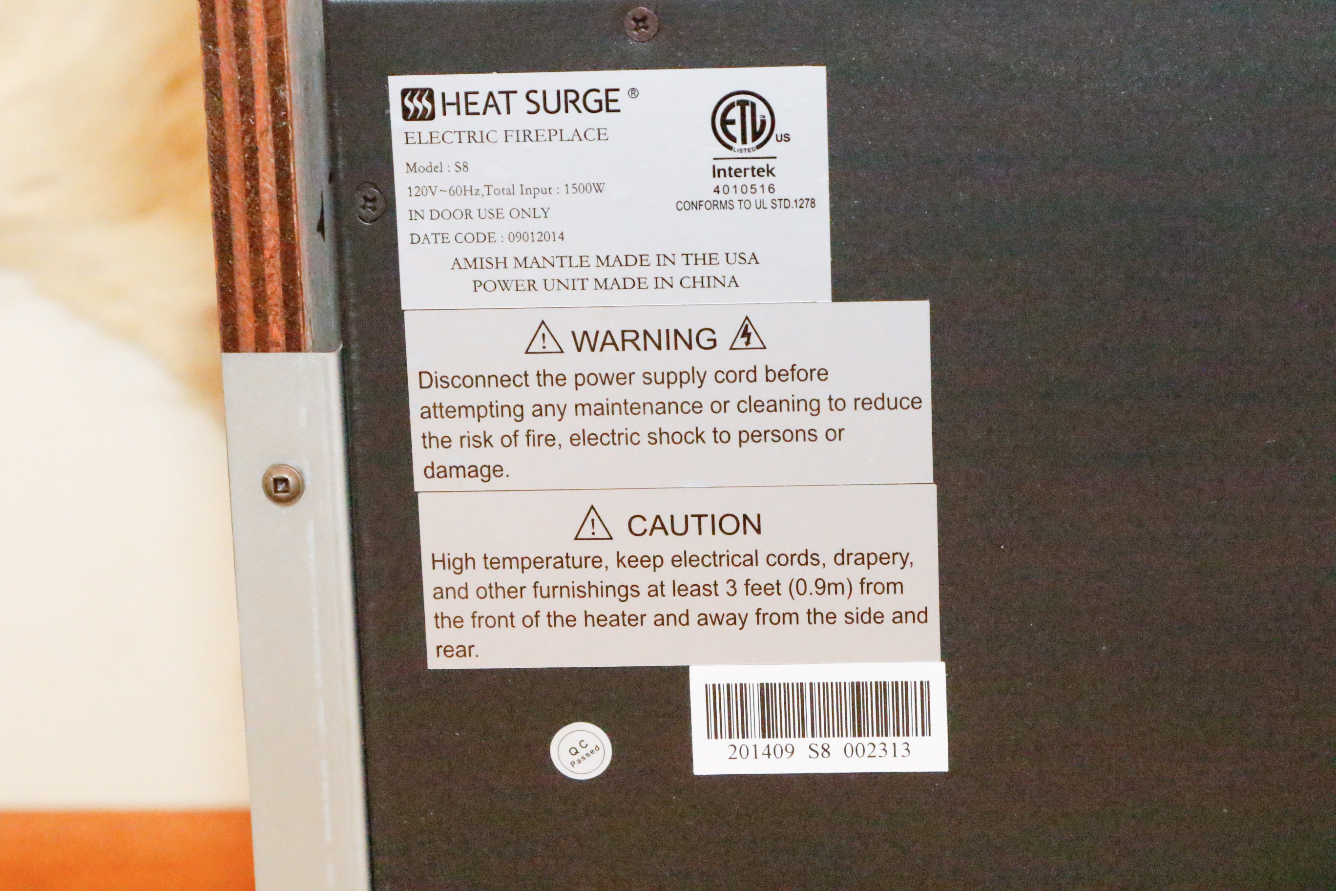 Two Heat Surge Electric Fireplace Units EBTH