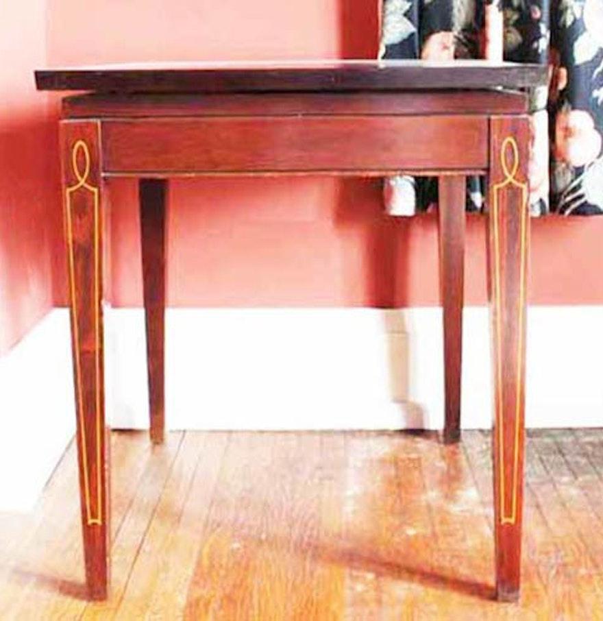 Swivel Side Table ~ Vintage swivel top side table ebth