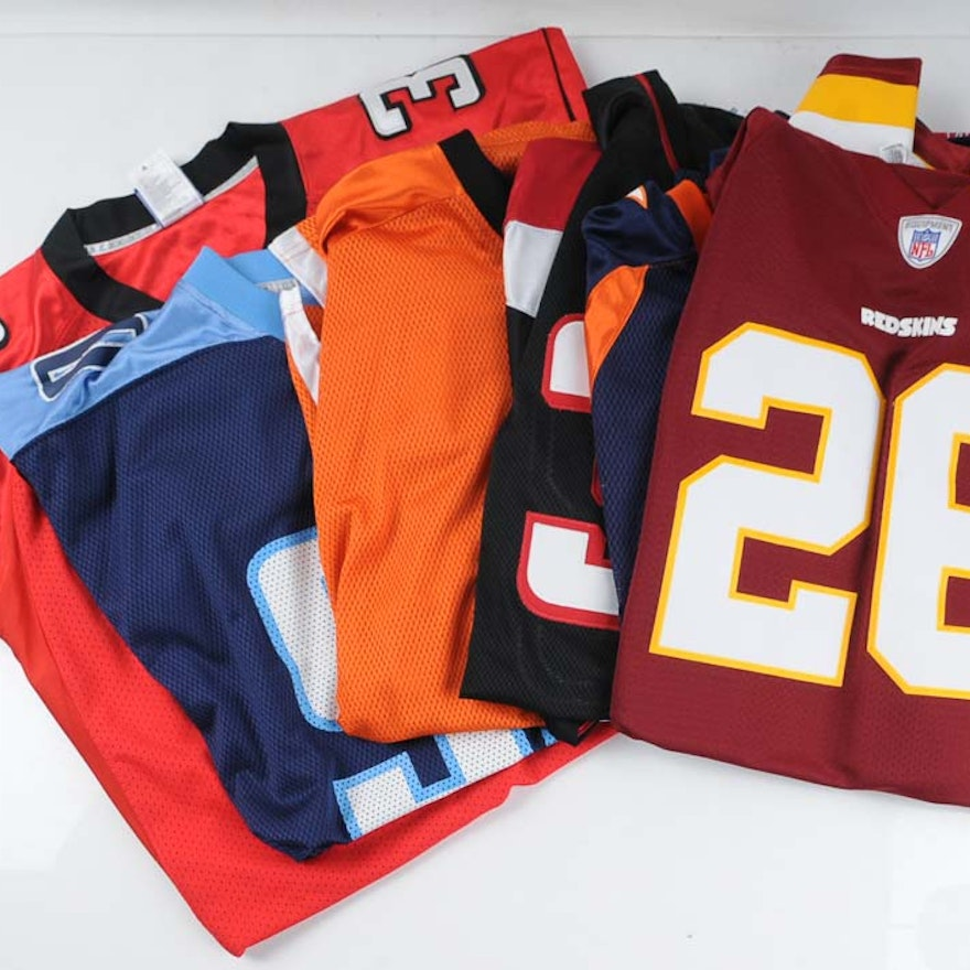 buy online c0bf8 62614 Group of Six Official NFL Jerseys