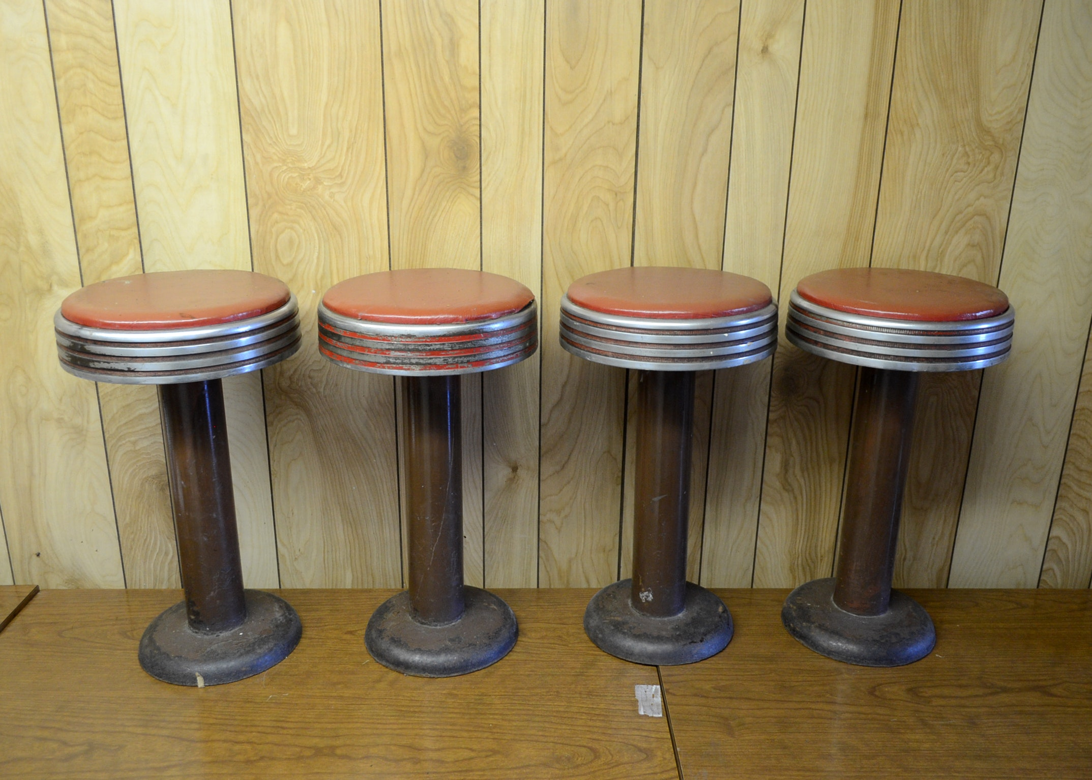 Collection Of Vintage Bar Stools Ebth