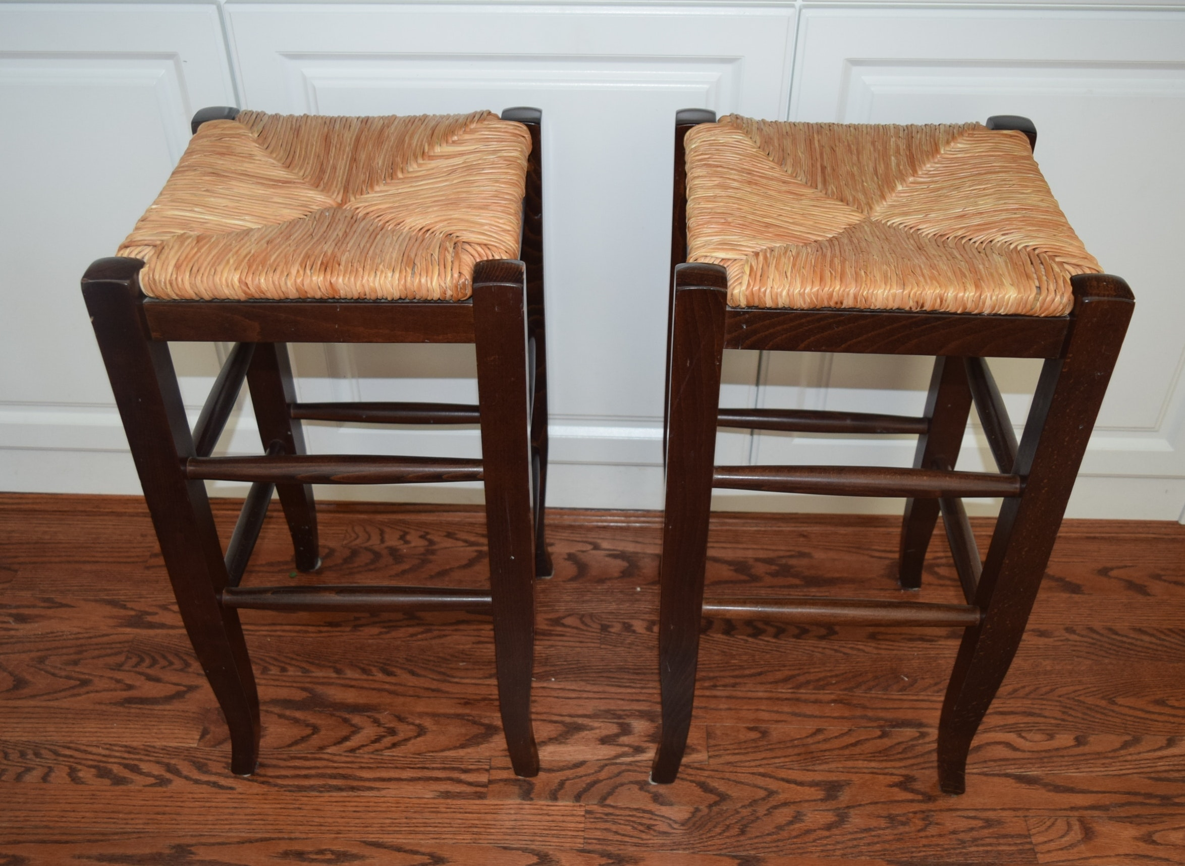 Pair of Pottery Barn quotNapoleonquot Rush Seat Counter Bar  : DSC0930JPGixlibrb 11 from www.ebth.com size 1400 x 1024 jpeg 241kB