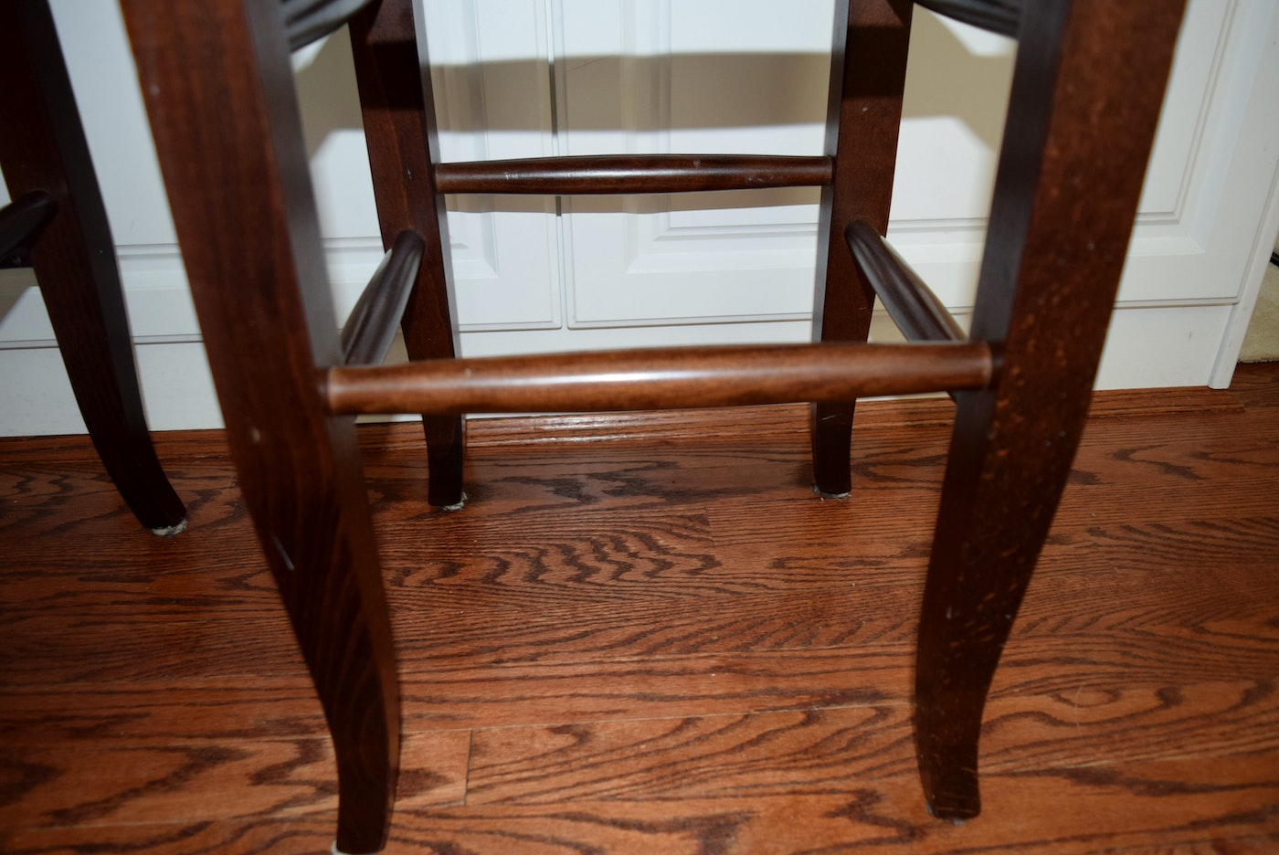 Pair Of Pottery Barn Quot Napoleon Quot Rush Seat Counter Bar