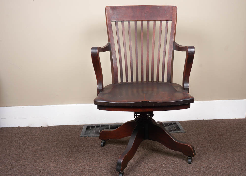 antique wood office chair vintage chairs for sale l