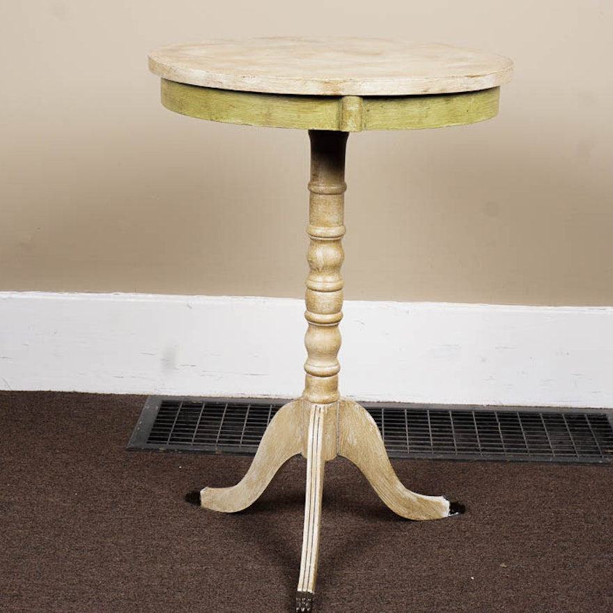 cream colored duncan phyfe style end table - Cream Colored End Tables