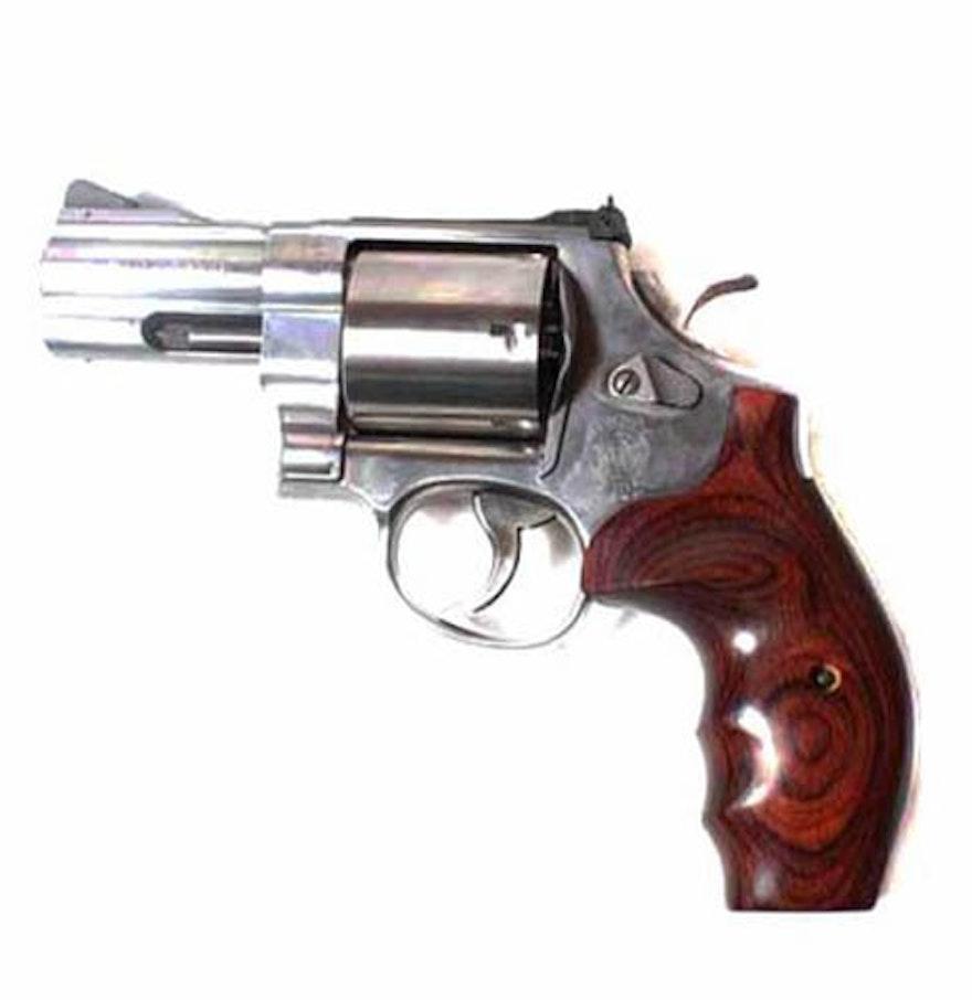 Smith & Wesson Model 629 .44 Magnum Snub Nose Revolver : EBTH44 Magnum Snub Nose Revolver