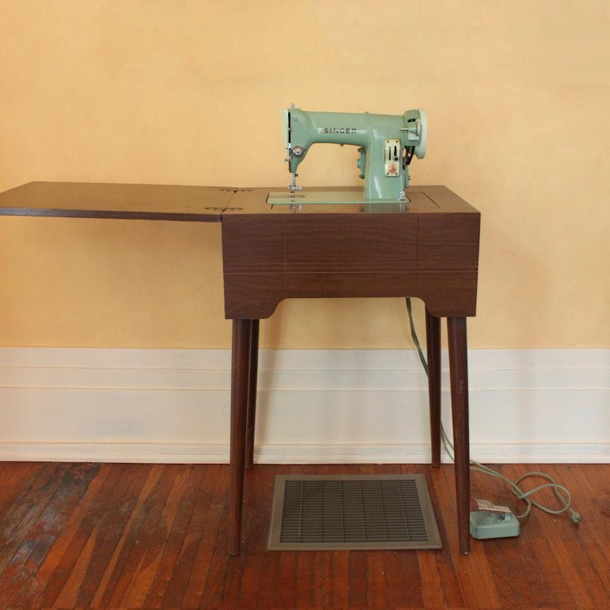 Vintage Singer Sewing Machine Model RFJ4040 And Hideaway Stand EBTH New Hideaway Sewing Machine Cabinet