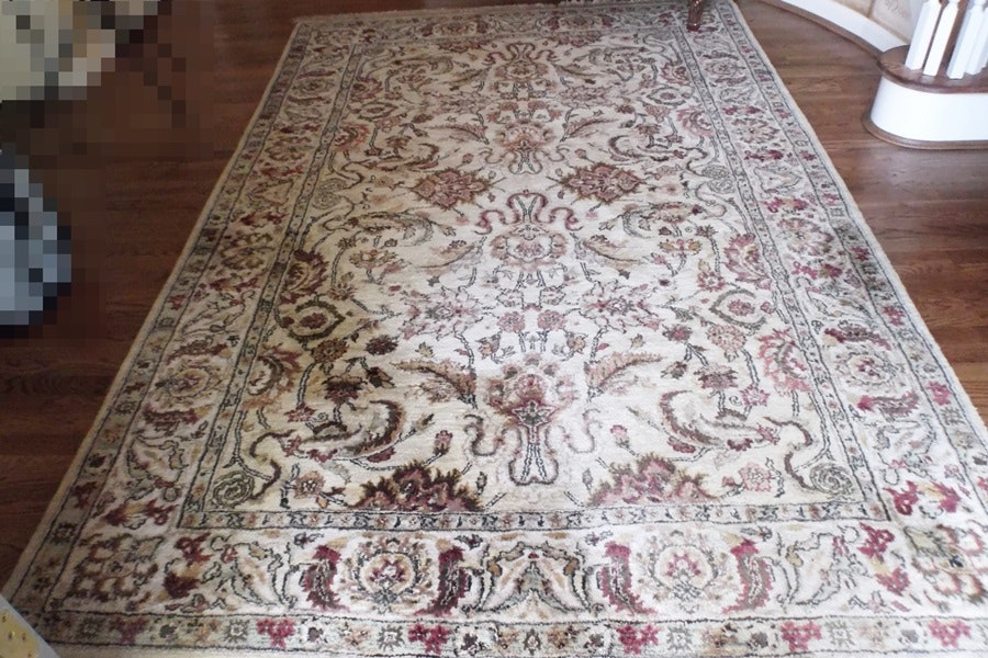 100 wool knotted area rug ebth