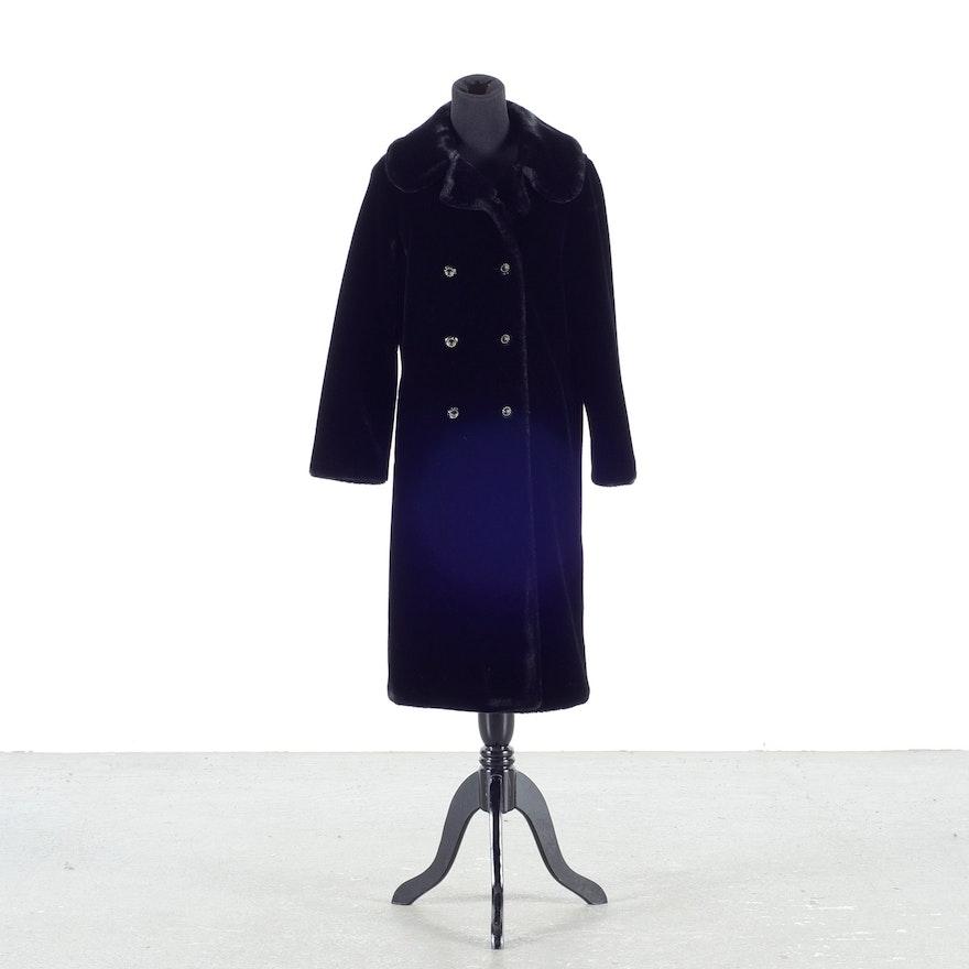 Ladies Vintage Faux Fur Coat by Borganzia Career Originals