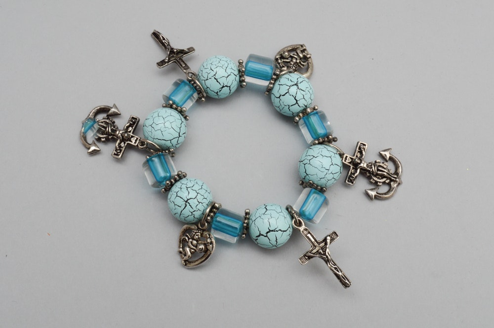 Group of turquoise costume jewelry ebth for Turquoise colored fashion jewelry