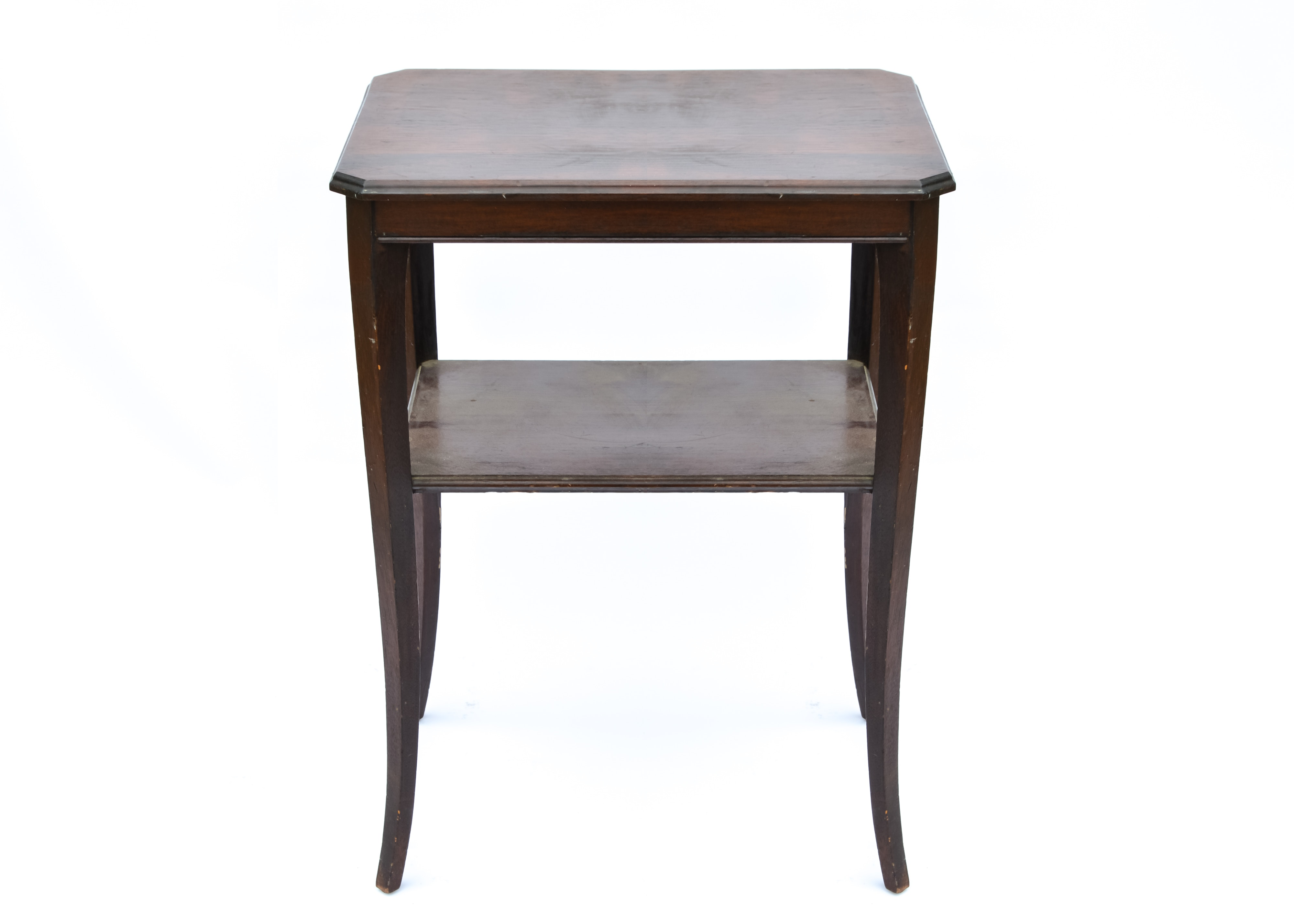 End Table With A Dark Oak Finish