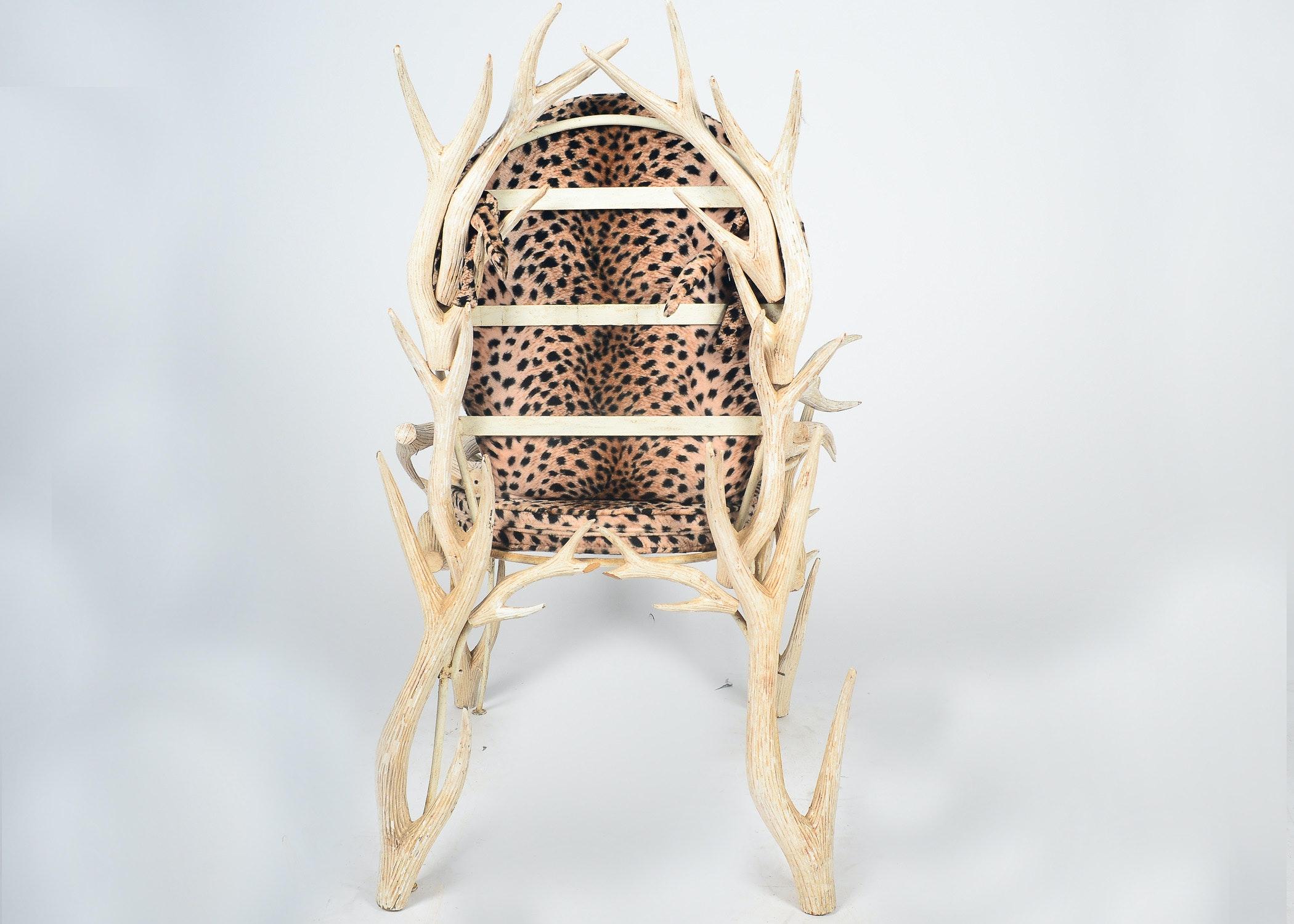 Leopard Print Shoe Chair