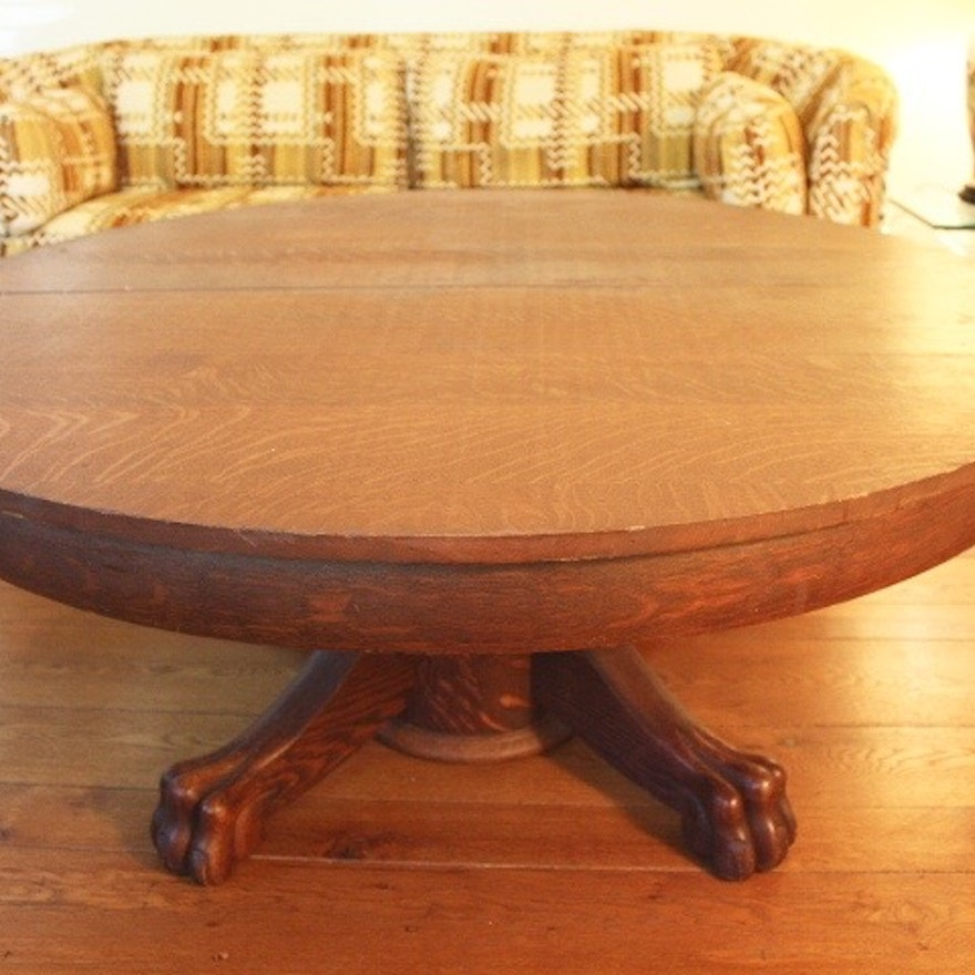 Antique White And Oak Coffee Tables: Antique Hand Planed Tiger Oak Coffee Table