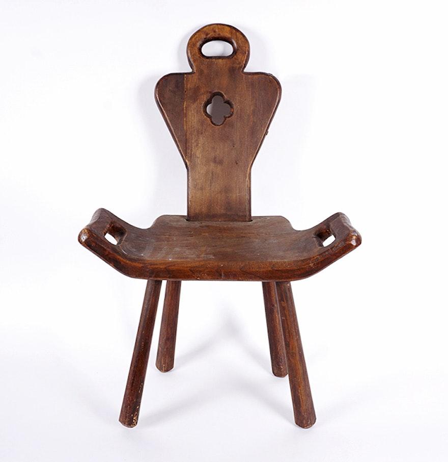 Antique Walnut Birthing Chair ... - Antique Walnut Birthing Chair : EBTH