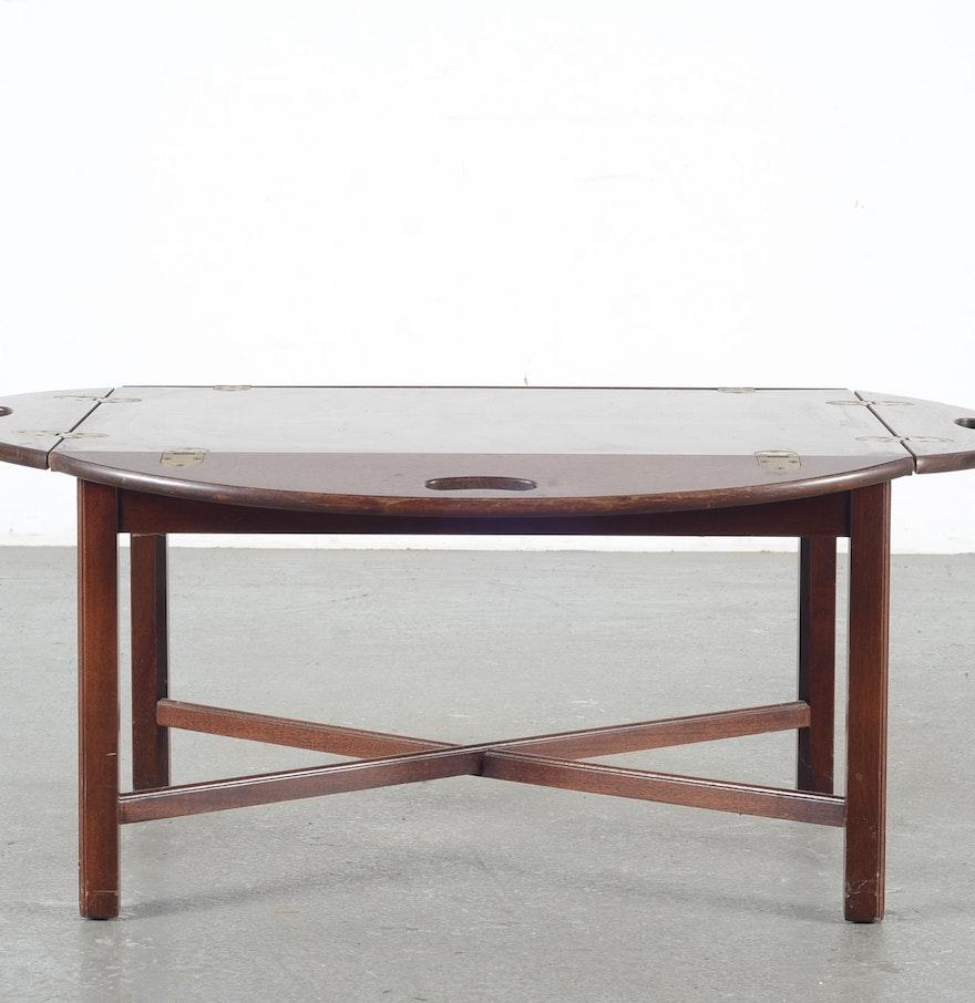 Mahogany Butler 39 S Tray Coffee Table Ebth