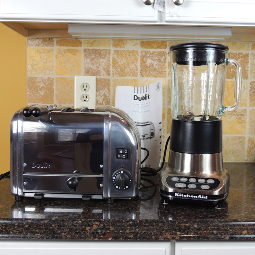 Dualit Toaster and Kitchen Aid Blender : EBTH on kitchenaid blender, kitchenaid artisan, kitchenaid mixer, kitchenaid classic,