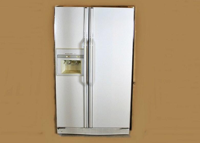 Kitchenaid Refrigerator Superba Kitchen Aid Superba White Sideside Refrigerator  Ebth