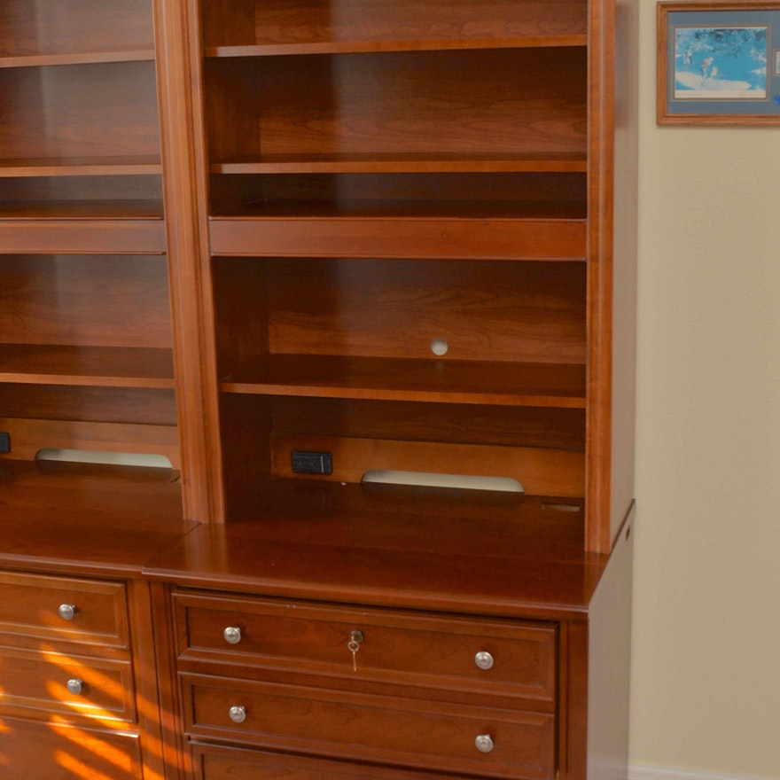 Stanley Furniture Lateral File With Bookcase Hutch