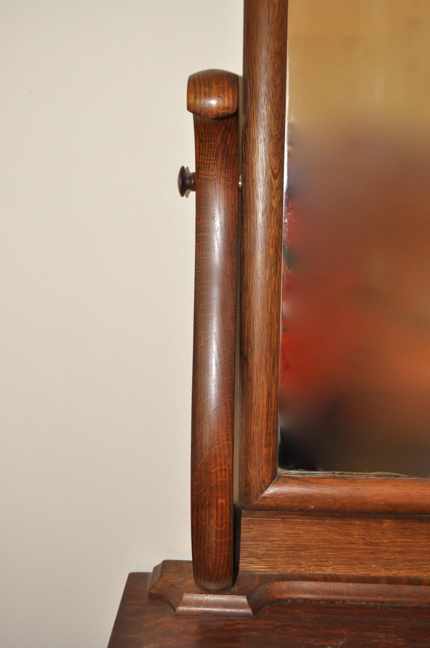 2528842 Victorian Quartersawn Oak Dresser With Mirror on Quarter Sawn Oak Dresser
