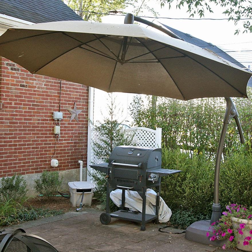 Adjustable Overhang Patio Umbrella ... - Adjustable Overhang Patio Umbrella : EBTH
