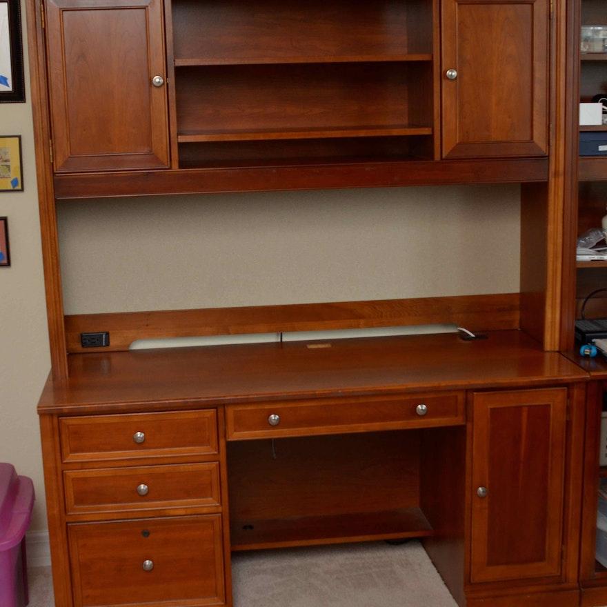 Stanley Furniture Credenza Desk With Hutch