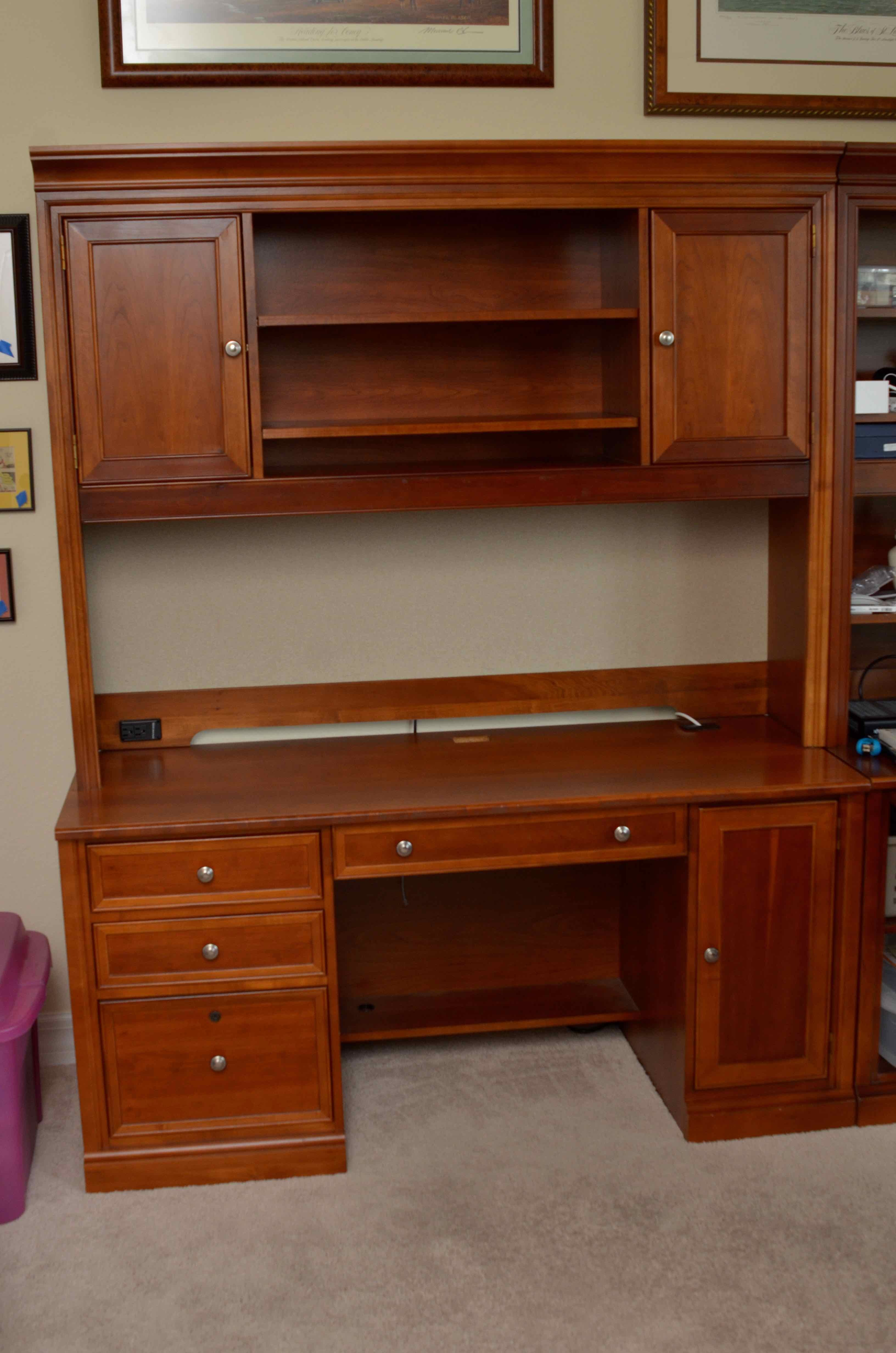 Great Stanley Furniture Credenza Desk With Hutch ...