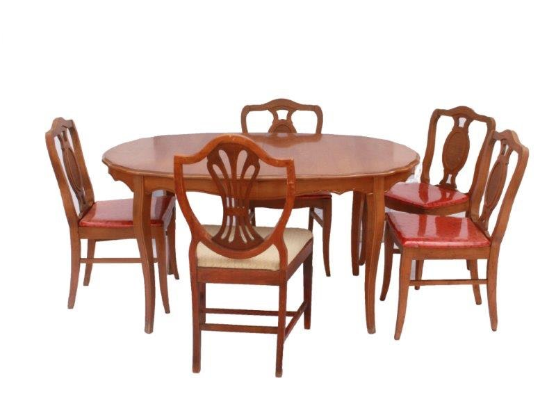 Oval Dining Room Table with Scalloped Edge and Six Chairs  : IMG0922jpgixlibrb 11 from www.ebth.com size 600 x 428 jpeg 40kB