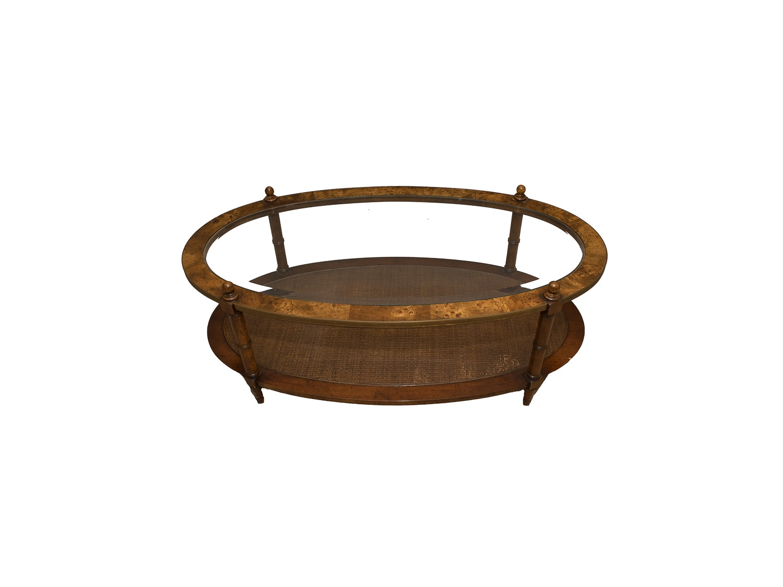 Oval Glass Top Coffee Table Ebth