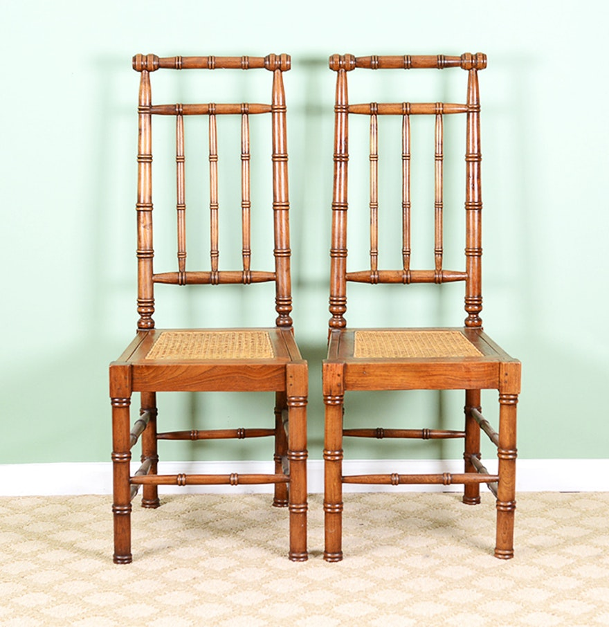 Regency style cane seat chairs ebth