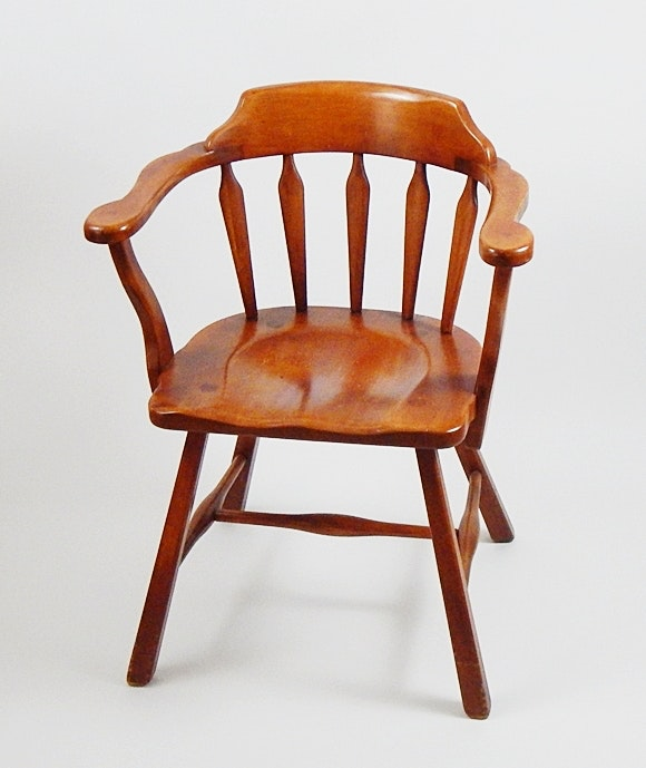 Vintage Cushman Colonial Creations Maple Captainu0027s Chair