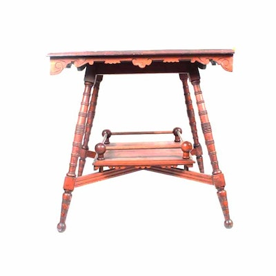 Antique Eastlake Style Parlor Table - Online Furniture Auctions Vintage Furniture Auction Antique