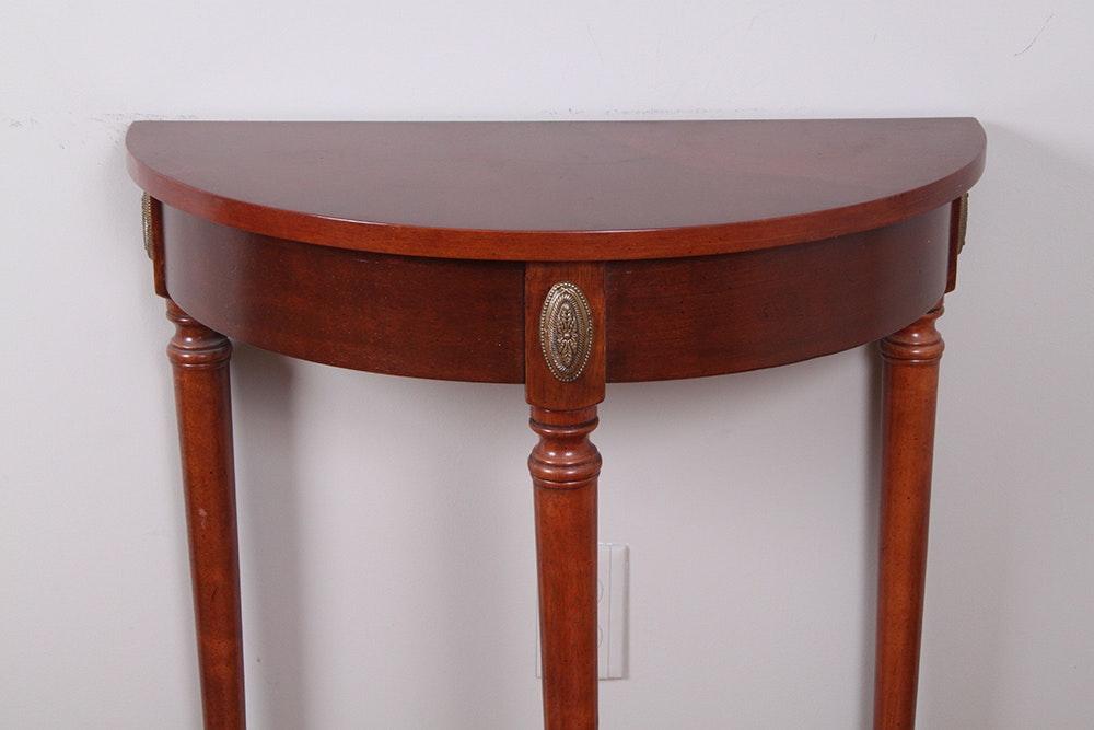 Foyer Table Half Moon : Cherry half moon foyer table ebth