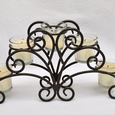 Vintage outdoor lighting used exterior lighting fixtures in metal candle holder aloadofball Choice Image