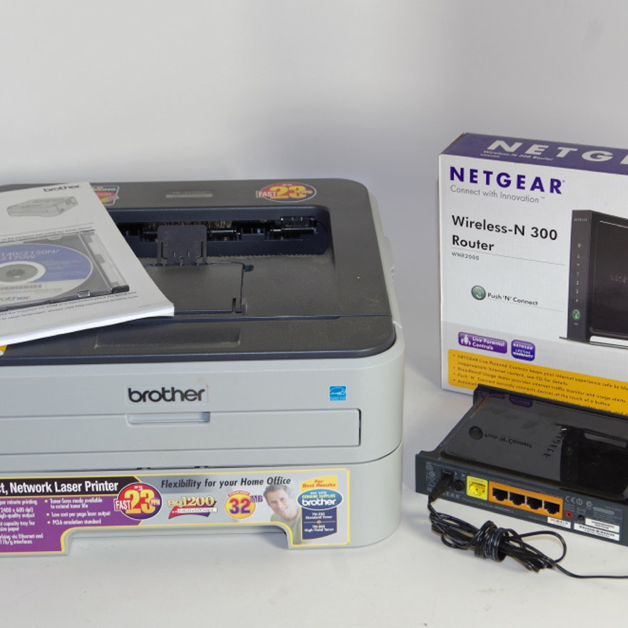 Brother HL-2170W Laser Printer and Netgear Router