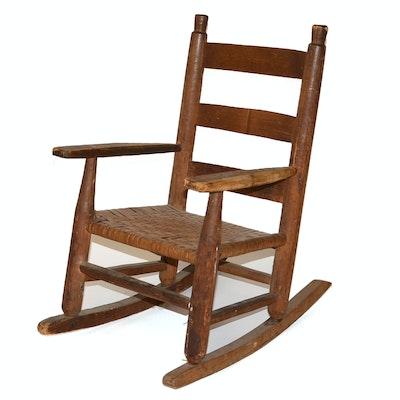 Antique Child's Rocking Chair - Online Furniture Auctions Vintage Furniture Auction Antique