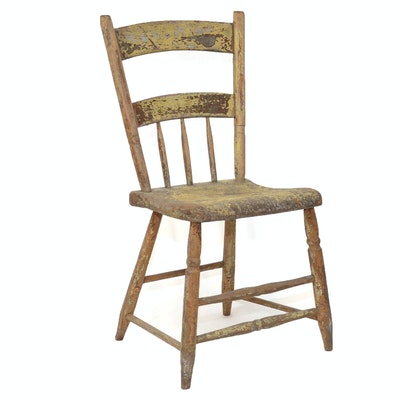 Antique Wood Chair - Online Furniture Auctions Vintage Furniture Auction Antique