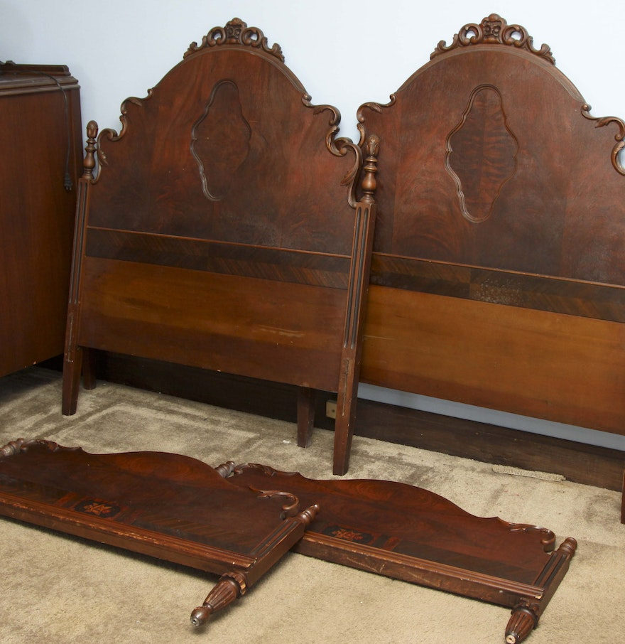 pair of antique twin size bed frames - Antique Twin Bed Frame